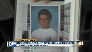 Former student arrested for making threats
