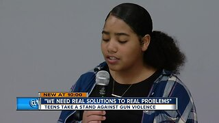 Milwaukee teens taking action amid growing gun violence