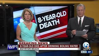 8-year-old dies after drinking boiling water - Video