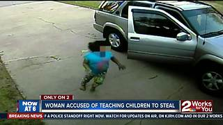 Woman and children steal from Tulsa home
