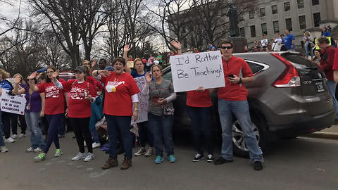 """Teachers Sing """"We're Not Gonna Take It"""" on Return to West Virginia Capitol"""
