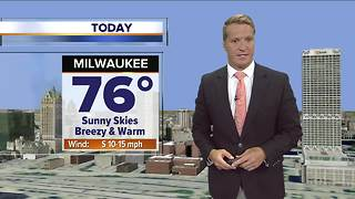 Sunny, breezy, and warm Friday - Video