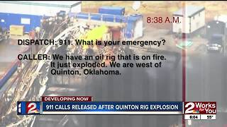 Quinton gas well explosion 911 calls released - Video