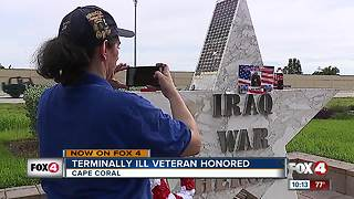 Terminally ill veteran honored - Video