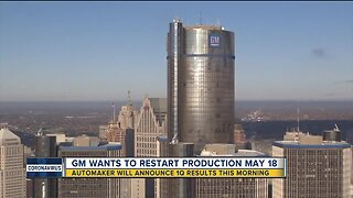 GM wants to restart production on May 18