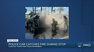 Police car catches fire in North Port