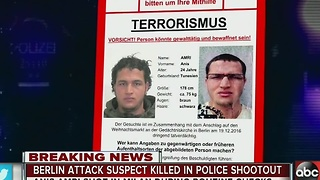 Berlin attack suspect killed in police shootout - Video