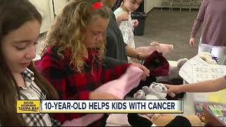 10-year-old Tampa girl wants to help hundreds of pediatric cancer patients in local hospitals - Video