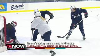 US Olympic hockey team training in Pasco County - Video