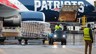 New England Patriots' Plane Delivers Masks From China