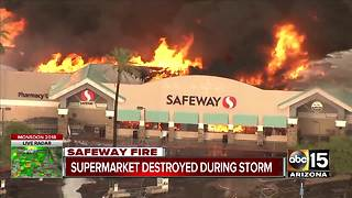 Massive fire under control at Phoenix Safeway, no injuries reported - Video