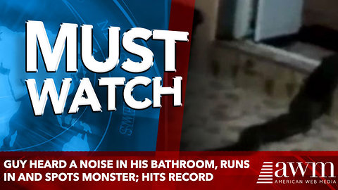 Guy Heard A Noise In His Bathroom, Runs In And Spots Monster