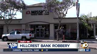 Bank robbed in Hillcrest - Video
