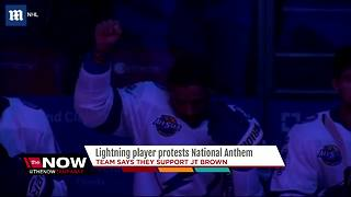 Lightning player protests National Anthem, the team says they support JT Brown - Video