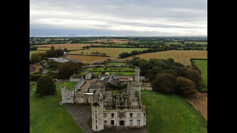 Duckett's Grove Castle Captured From Drone