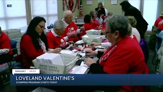 Loveland volunteers start stamping Valentines cards today