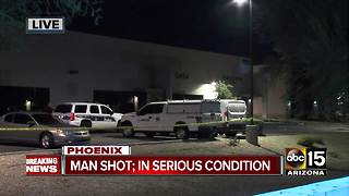 Man injured in south Phoenix shooting - Video