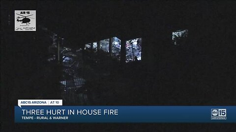 Three hurt in house fire in Tempe