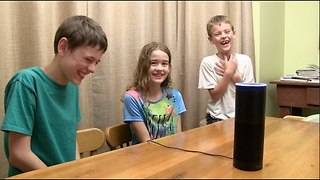 Kids Ask Alexa to Add Gibberish Words to Their Shopping List - Video