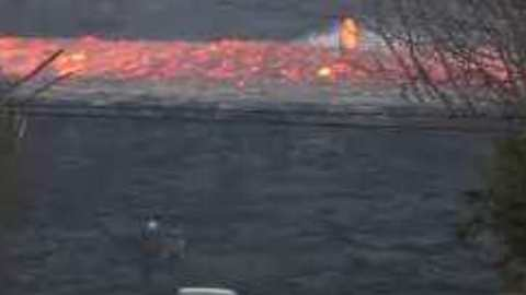 Lava Rages from Kilauea's Fissure 8