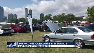 Classic cars on display at Milwaukee Concours d'Elegance