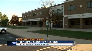 Principal abruptly resigns from Oconomowoc High School - Video