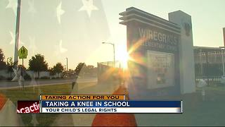 Pasco Schools clarifies rules for standing during Pledge of Allegiance after 1st grader kneels - Video