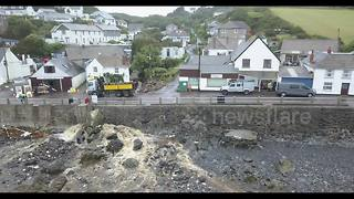 Drone footage shows ongoing Coverack clean-up - Video