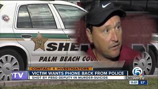 Woman shot 5 times by PBSO deputy wants phone returned - Video