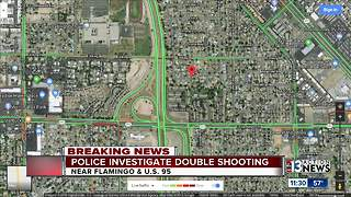 Police say two people shot near Flamingo, U.S. 95
