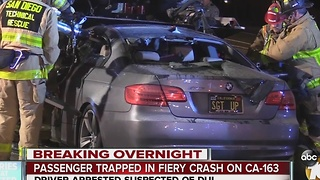 Driver runs, abandons trapped passenger in fiery wreck on SR-163 - Video