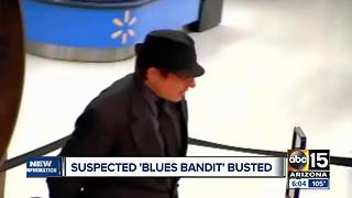 'Blues Bandit' arrested in connection with 8 bank robberies - Video
