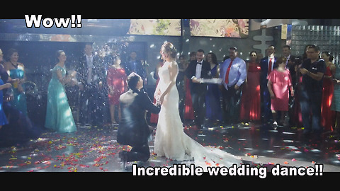 Incredible wedding dance