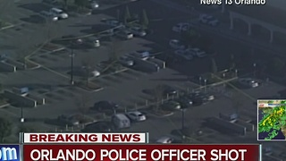Orlando police officer shot - Video