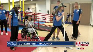 Curlers meet kids at Madonna Rehab - Video