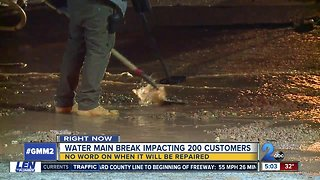 "200 customers without water after 6"" main break in NE Baltimore"