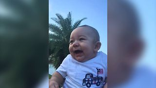 Baby Goes Bonkers For Fireworks