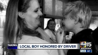 Local boy honored by NASCAR driver Joey Gase - Video