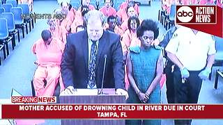 Mother accused of drowning child in river makes first appearance - Video