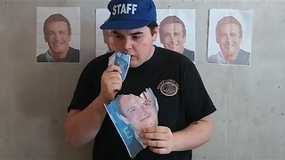 Day 2: Man Will Eat a Picture of Jason Segel Every Day Until Jason Segel Eats a Picture of Him - Video