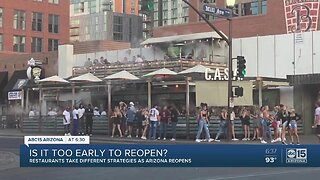 Is it too to early to reopen restaurants in Arizona?