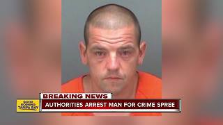 Clearwater crime spree ends in arrest at bank - Video