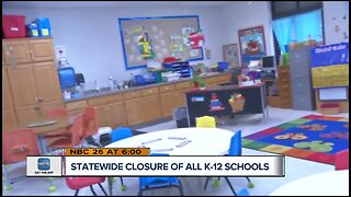 Statewide closure of all k-12 schools