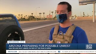 'I sell out almost every day': Mesa man selling body armor by the side of the road