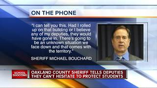 Oakland County Sheriff tells deputies they can't hesitate to protect students - Video