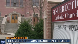 Burglars target Catholic Church, leaders hide teens in kitchen for safety - Video