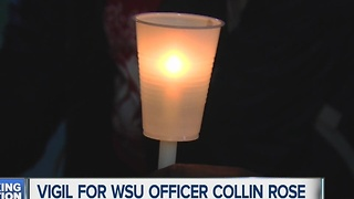 Vigil for Officer Collin Rose - Video