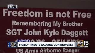 Surprise woman fighting HOA over tribute to her veteran brother