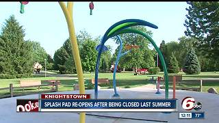 Splash pad in Knightstown reopens - Video
