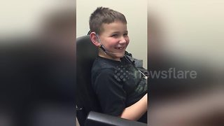 Boy, 7, smiles as he hears clearly for the first time - Video
